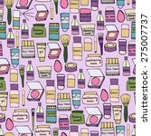 seamless pattern with elements... | Shutterstock .eps vector #275007737