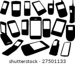cell phones silhouettes | Shutterstock .eps vector #27501133