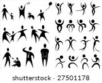 collection of various human... | Shutterstock .eps vector #27501178