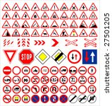vector traffic signs collection | Shutterstock .eps vector #27501205
