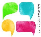 Watercolor Colorful Speech...