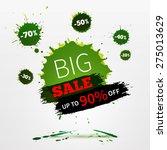 vector watercolor banner with... | Shutterstock .eps vector #275013629