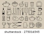 food and kitchen elements ... | Shutterstock .eps vector #275016545