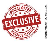 exclusive special offer limited ... | Shutterstock .eps vector #275018321