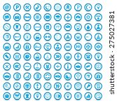 big blue icons set on a white... | Shutterstock . vector #275027381
