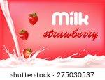 milk fruit pink with splashes...   Shutterstock .eps vector #275030537