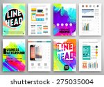 set of vector poster templates... | Shutterstock .eps vector #275035004