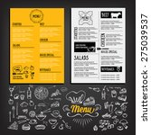 restaurant cafe menu  template... | Shutterstock .eps vector #275039537