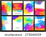 set of cards for marriage ... | Shutterstock .eps vector #275040539