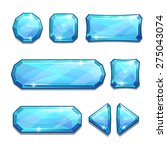 set of blue crystal buttons ...