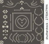 set of vector decorative... | Shutterstock .eps vector #275047994