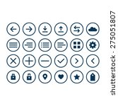 universal icons set for web and ... | Shutterstock .eps vector #275051807