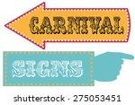 carnival sign template... | Shutterstock .eps vector #275053451