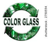 two arrow color glass recycling ... | Shutterstock . vector #2750554