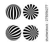 a black and white sphere | Shutterstock .eps vector #275056277