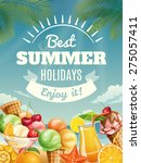 vector summer poster with... | Shutterstock .eps vector #275057411