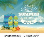 vector summer background with... | Shutterstock .eps vector #275058044