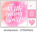 vector collection of love cards ... | Shutterstock .eps vector #275059631