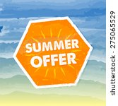 summer offer banner   text in... | Shutterstock .eps vector #275065529