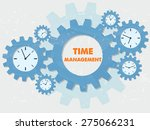time management with clock... | Shutterstock .eps vector #275066231