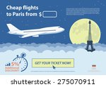 flat travel banner   paris ... | Shutterstock .eps vector #275070911
