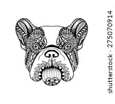 zentangle stylized french... | Shutterstock .eps vector #275070914