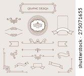 set of vintage decorations... | Shutterstock .eps vector #275071655