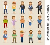 set of hipster people... | Shutterstock .eps vector #275078801