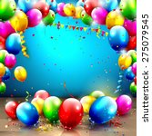 birthday background with... | Shutterstock .eps vector #275079545