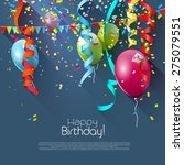 birthday greeting card with... | Shutterstock .eps vector #275079551