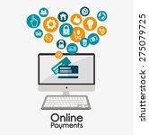 online payments design over... | Shutterstock .eps vector #275079725