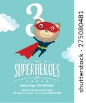super hero birthday card... | Shutterstock .eps vector #275080481