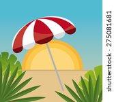 summer design over beachscape... | Shutterstock .eps vector #275081681