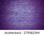 Exotic Purple Brick Wall...