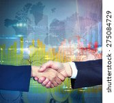 Small photo of Handshake symbol of an business agreement reached