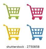 3d shopping cart button  ...   Shutterstock . vector #2750858