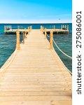 pier and nobody  | Shutterstock . vector #275086001