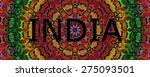 indian mandala design | Shutterstock . vector #275093501