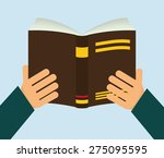 books design over blue... | Shutterstock .eps vector #275095595