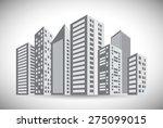urban design over white... | Shutterstock .eps vector #275099015