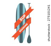 stand up paddle surfing logo.  | Shutterstock .eps vector #275101241