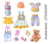 girl's clothes set | Shutterstock . vector #275102159