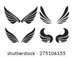 set of 4 pair of decorative... | Shutterstock .eps vector #275106155