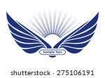 heraldic icon with wings. sun... | Shutterstock .eps vector #275106191