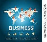 business concept success vector | Shutterstock .eps vector #275107985
