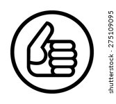 thumbs up vector icon   Shutterstock .eps vector #275109095