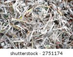 Background of shredded paper cuttings - stock photo