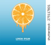 background with orange slice.... | Shutterstock .eps vector #275117831