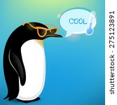 vector colorful penguin on cold ...   Shutterstock .eps vector #275123891
