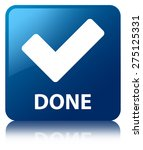 done  validate icon  blue... | Shutterstock . vector #275125331